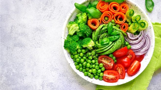 If you want to eat healthy and save on groceries try to go meatless for one day of the week.