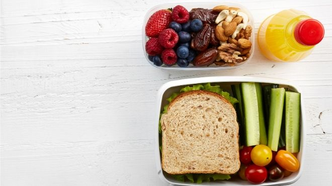 Preparing your lunch at home for the entire family is a budget-friendly way to eat healthy.