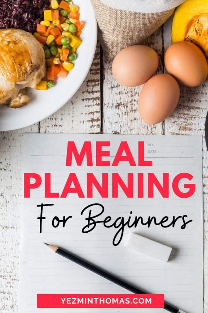 A shopping list is not a meal plan! With this Meal Planning for Beginners Guide learn how to simplify your breakfast, lunch, & dinner and save on groceries