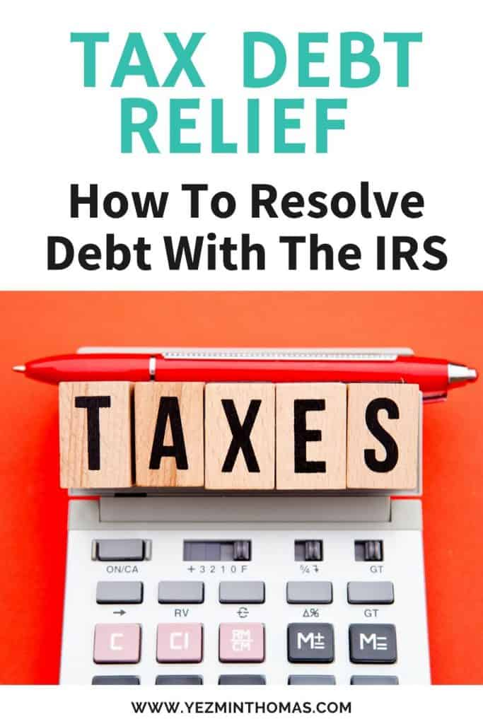 The IRS has the power to garnish your assets if you don't pay your tax debt. If you owe more than $10,000 I recommend working with a tax debt relief agency.