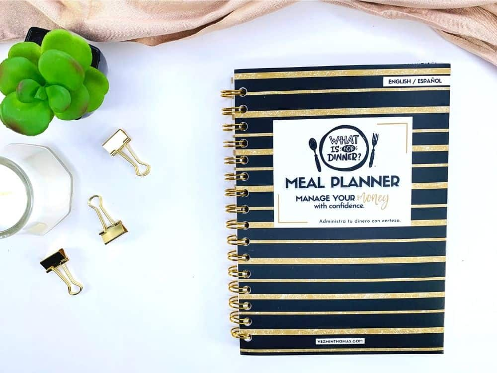 OUR MEAL PLANNER GOLD EDITION WILL HELP YOU BUDGET FOR GROCERIES, PLAN YOUR WEEKLY MENUES, AND ORGANIZE YOUR SHOPPING LIST.