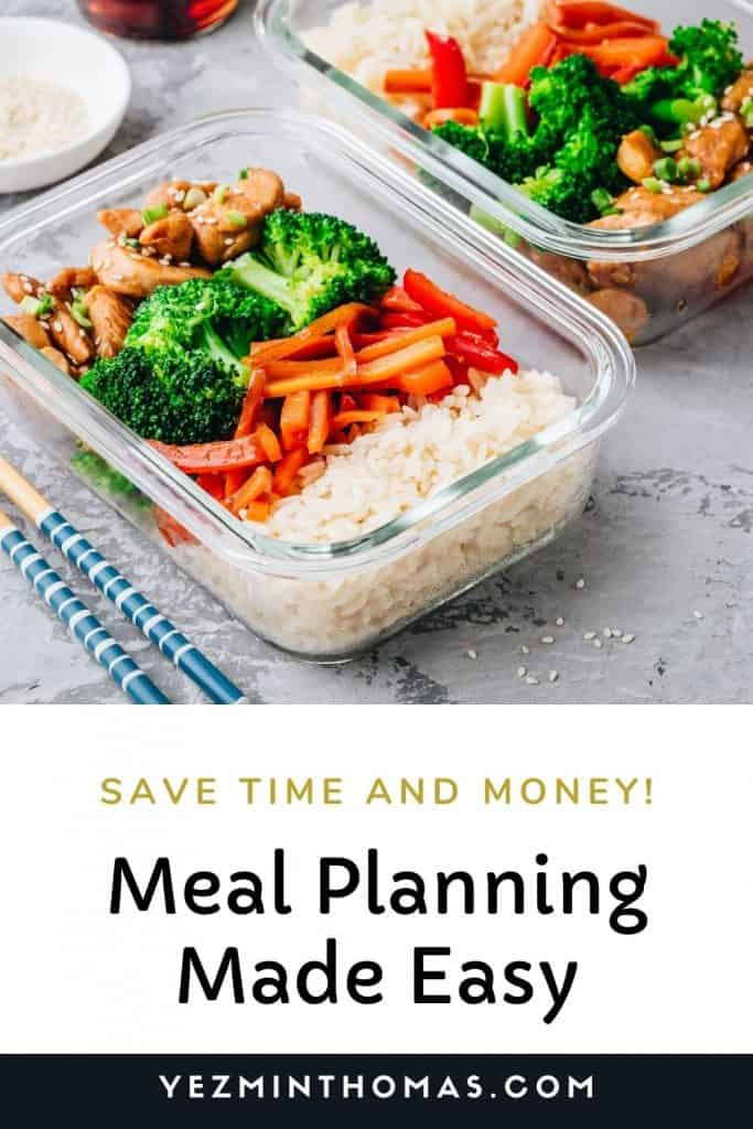Meal planning for a month made easy: Set a budget, check your calendar, use a meal planner, use the 3-2-1 method for your meal choices.